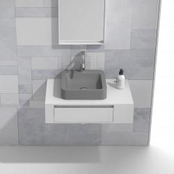 Мебел за баня сет шкаф и сива мивка – ICP 8029/3861G