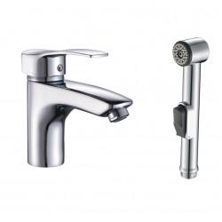 Смесител за умивалник и хигиенен душ с бидетна функция – QUADRAT