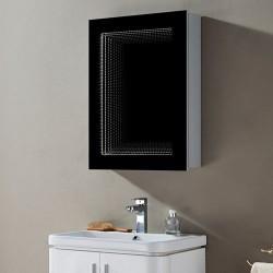 Огледален шкаф Елиза Infinity LED и черна рамка – Inter Ceramic