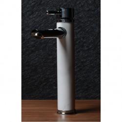 Висок месингов смесител за мивка с бяла облицовка – ICF 1458236С