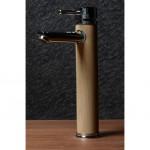 Висок месингов смесител за мивка с облицовка дървесен цвят – ICF 1458237С