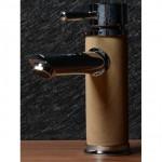 Малък смесител за мивка с облицовка дървесен цвят – ICF 1458234С
