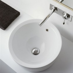 Умивалник  A 8055/A  в бяло от Scarabeo/ Колекция MATTY TONDO