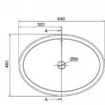 Умивалник 8056 в бяло от Scarabeo/ Колекция мивки  MATTY OVALE