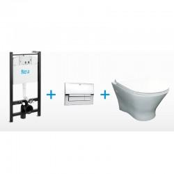 Стенна тоалетна чиния NEXO + структура за вграждане