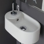 Умивалник  B 8093 в бяло от Scarabeo/ Колекция мивки SEVENTY
