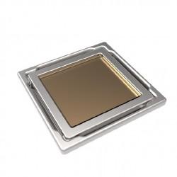 Подов точков сифон с бежово стъкло DS-11-CD Beige