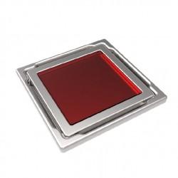 Подов точков сифон с червено стъкло DS-11-CD Red