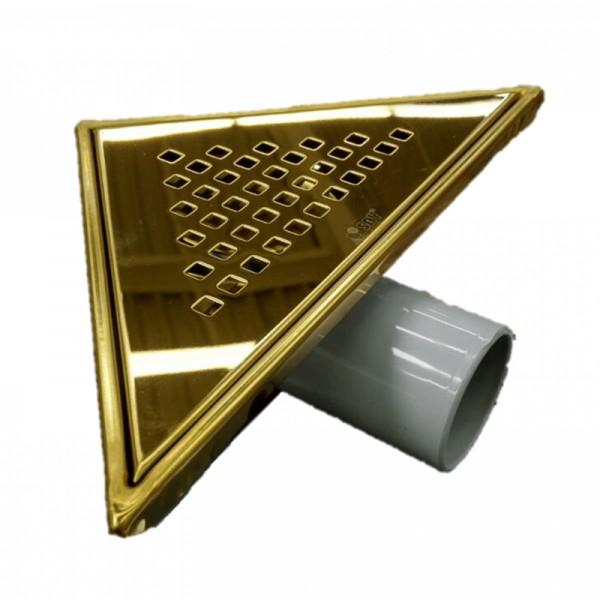 Златист триъгълен сифон за баня инокс – модел SAY.71.KCR.P.A