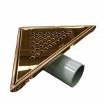 Триъгълен сифон за баня бронзов –  SAY.71.KCR.P.B