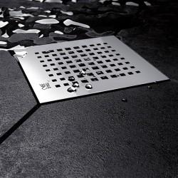 Подов сифон Quadric тип квадратна решетка