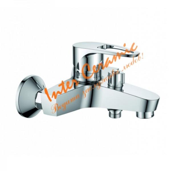 Стенен месингов смесител за душ/вана Runde – Inter Ceramic