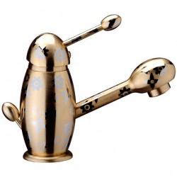 Колекция смесител за мивка Pretty PR21605 декор Brushed Gold/Chrome