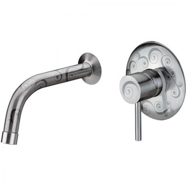 Практичен Смесител с декор Brushed Nickel/Brushed Gold - Suvi S20622