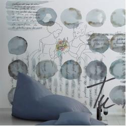 Стенни тапети за баня модел – BUBBLE CHAT