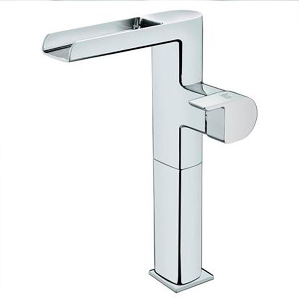 Отворен висок смесител за мивка в банята