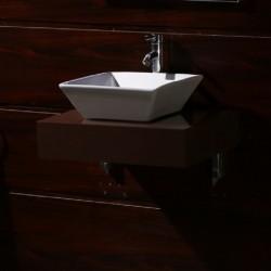 Кафяв PVC плот за баня