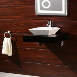 Черен PVC плот за баня