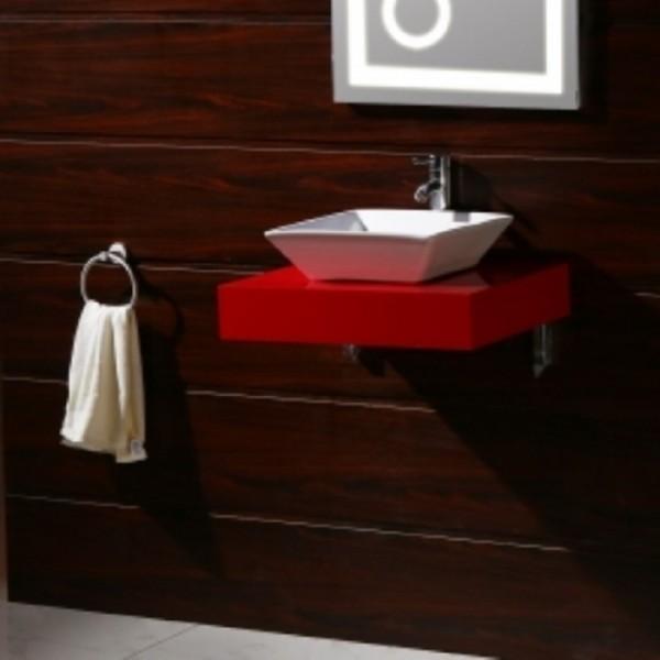 Червен PVC плот за баня