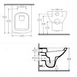 Стенна тоалетна чиния дизайн прави линии – Soluzione на Isvea (Ит)