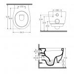Стенна тоалетна чиния дизайн овални форми – Soluzione на Isvea (Ит)