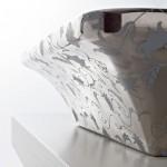 Мивка за баня с луксозна украса PLATINUM FLOWERS