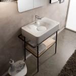 Мивка за баня - масивна форма в среден размер