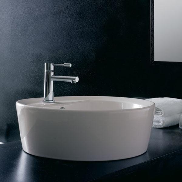 Голяма кръгла мивка за плот