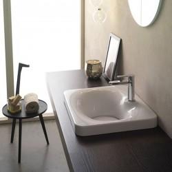 Елегантна мивка за баня за вграждане в плот или мебел