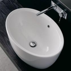 Овална мивка за баня - модел тип купа
