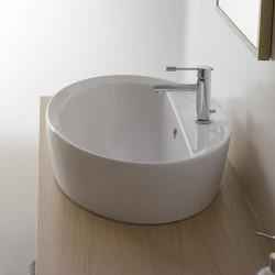 Овален умивалник за баня за плот монтаж
