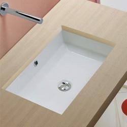 Мивка за баня за вграждане под ръба на плота