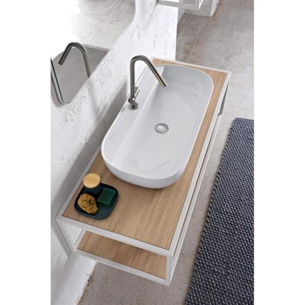 Луксозен умивалник за плот с отвор за смесител Glam – (Scarabeo)