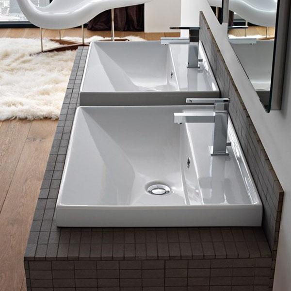 Мивка за баня - избор за вграждане или окачване на стена