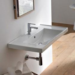 Голяма мивка за баня с плот рамка