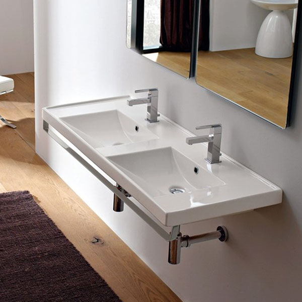 Мивка за баня с две корита - екстра размер