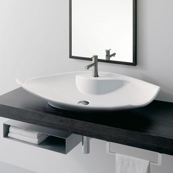 Авангардна мивка за баня - за плот