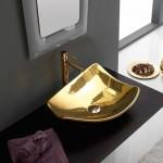 Мивка за баня финитура златен блясък