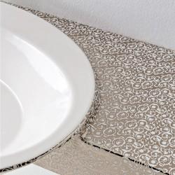 Мивка за баня с луксозна декорация - платинен плот