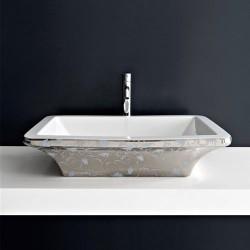 Мивка за баня с платинена декорация