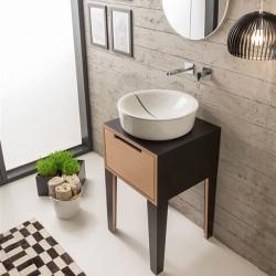 Кръгла мивка за баня с луксозен капак