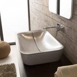 Правоъгълна мивка за баня - с дизайнерски капак