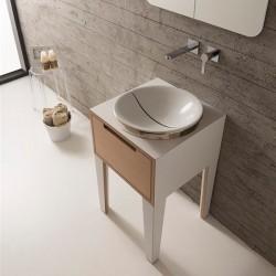 Кръгла мивка за баня за вграждане - с дизайнерски капак