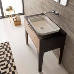 Мивка за баня за вграждане - продълговат светъл отвор