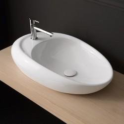 Умивалник за баня в овален дизайн