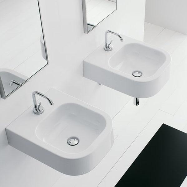 Умивалник за баня в елегантна компактна форма