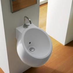 Фамозна мивка за баня в овален дизайн - за стенен монтаж