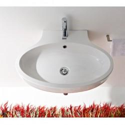 Мивка за баня овален модел за стенен монтаж