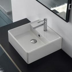 Компактен умивалник за баня в квадратен размер