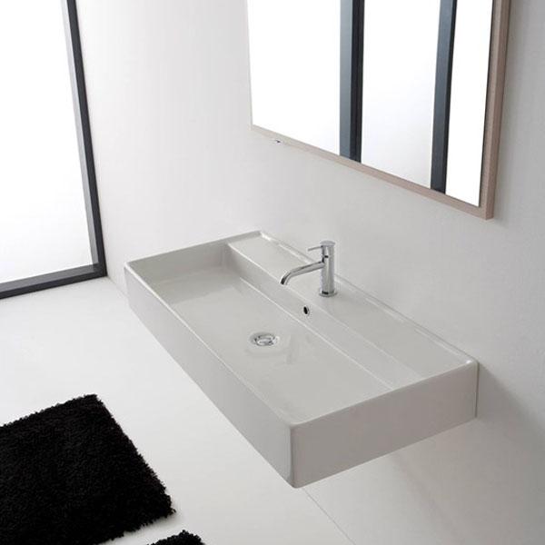 Умивалник за баня в голяма правоъгълна форма